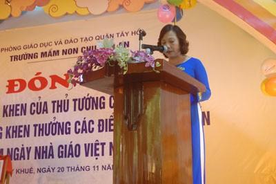 Trường MN Chu Văn An đón nhận bằng khen của Thủ Tướng Chính Phủ ảnh 1