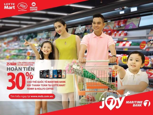 Hoàn tiền 30% tại Lotte Mart chi tiêu bằng thẻ quốc tế Maritime Bank ảnh 1