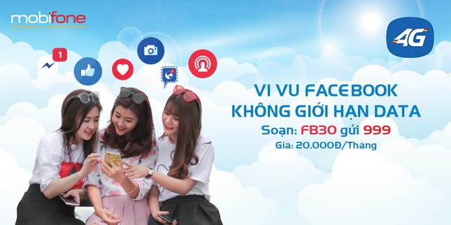 Livestream Facebook thả ga cả tháng với 4G của MobiFone chỉ 20.000đ ảnh 1