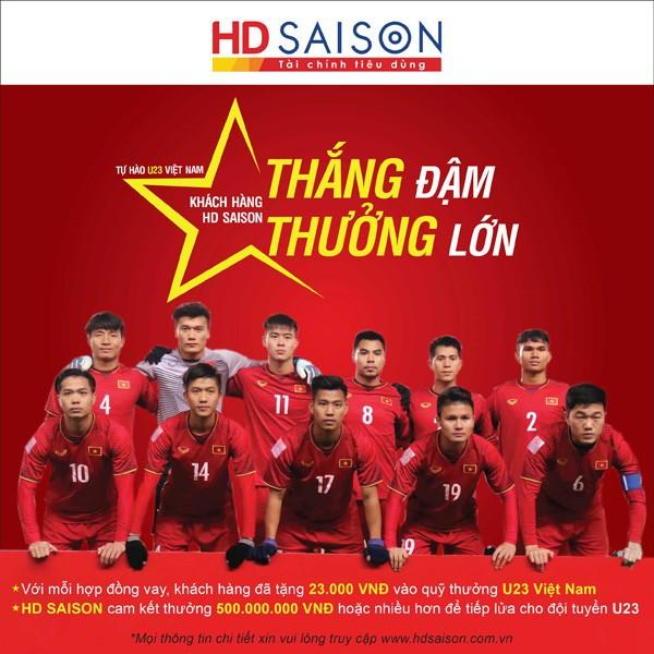 Trước chung kết U23 Châu Á, HD SAISON lập quỹ thưởng đội tuyển U23 VN ảnh 1