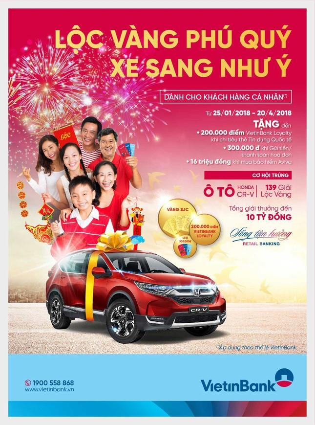 Cơ hội trúng ô tô Honda CR-V và 139 giải Lộc vàng cùng VietinBank ảnh 1