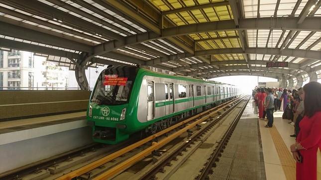 Tàu đường sắt Cát Linh - Hà Đông chạy thử toàn tuyến ảnh 1