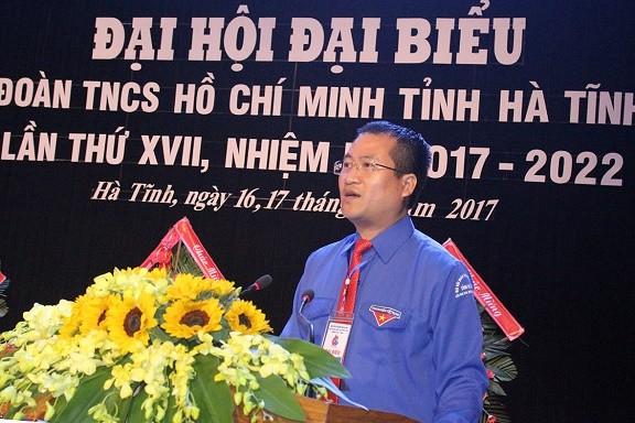 Anh Nguyễn Thế Hoàn tái đắc cử Bí thư tỉnh đoàn Hà Tĩnh ảnh 1