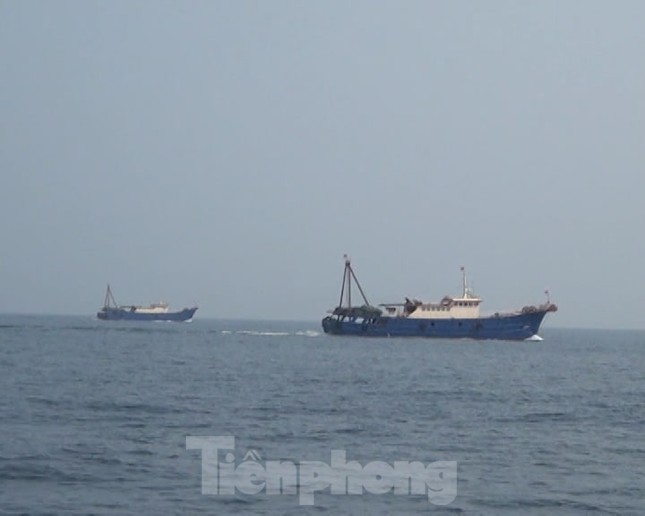 Đuổi 2 tàu cá treo cờ Trung Quốc áp sát giàn khai thác khí Thái Bình ảnh 1