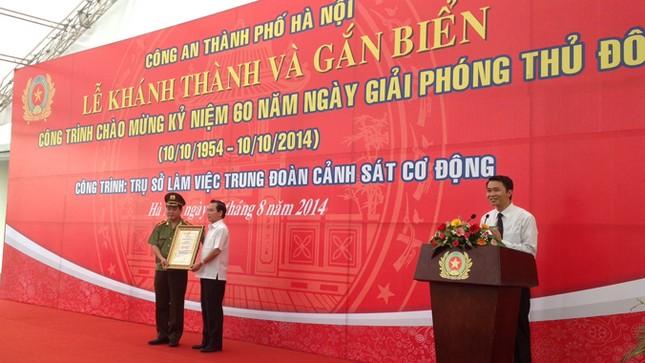 Khánh thành trụ sở của Trung đoàn Cảnh sát cơ động Hà Nội ảnh 2
