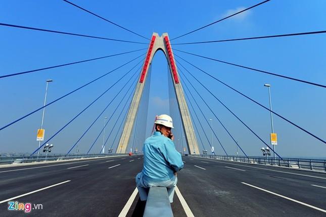 [ẢNH] Cầu Nhật Tân, đường Võ Nguyên Giáp trước ngày thông xe ảnh 8