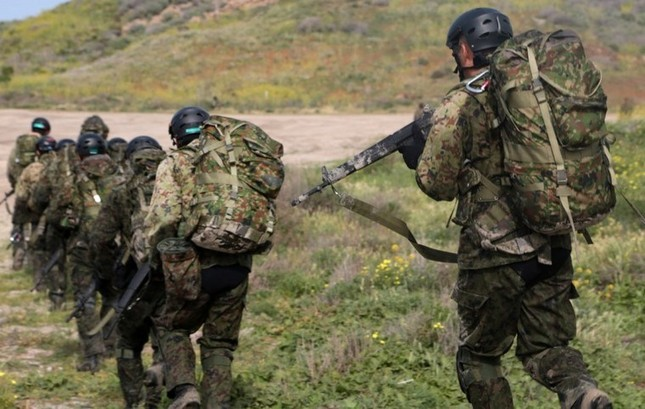 Mục kích lính Mỹ - Nhật Bản tập trận Iron Fist 2015 ảnh 12