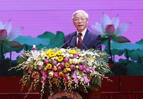 Hình ảnh Lễ kỷ niệm 125 năm Ngày sinh Chủ tịch Hồ Chí Minh ảnh 17