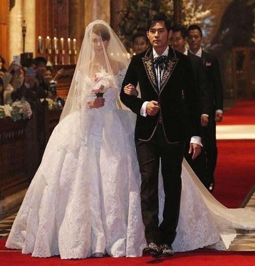 Những chiếc váy cưới của mỹ nhân Hoa ngữ ảnh 6