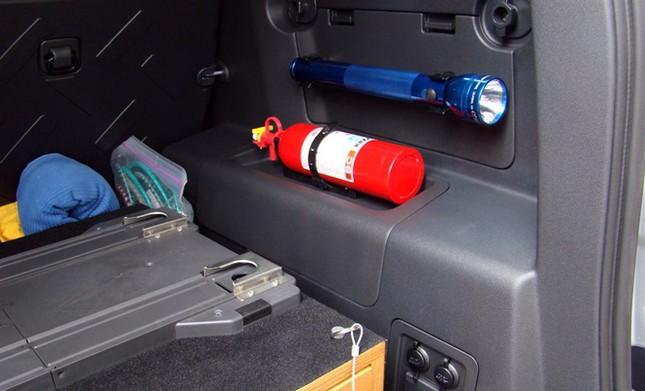 Nên đặt bình cứu hỏa ở đâu trên ôtô? ảnh 7
