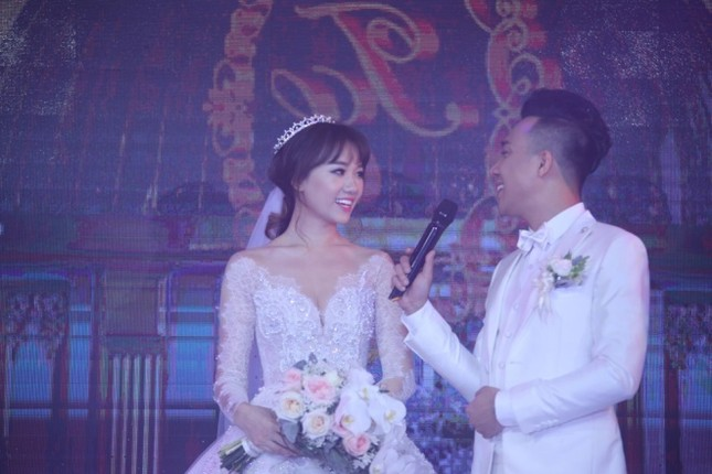 Ba bộ cưới lộng lẫy của cô dâu Hari Won ảnh 8