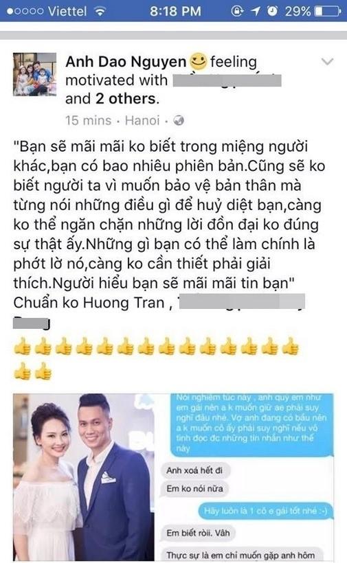 Vợ diễn viên Hồng Đăng chia sẻ đầy ẩn ý sau loạt scandal của Bảo Thanh ảnh 1