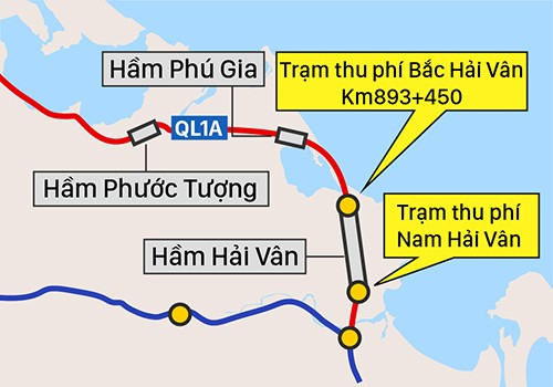 Bộ Giao thông đề xuất ghép 2 trạm thu phí ở khu vực hầm Hải Vân ảnh 1