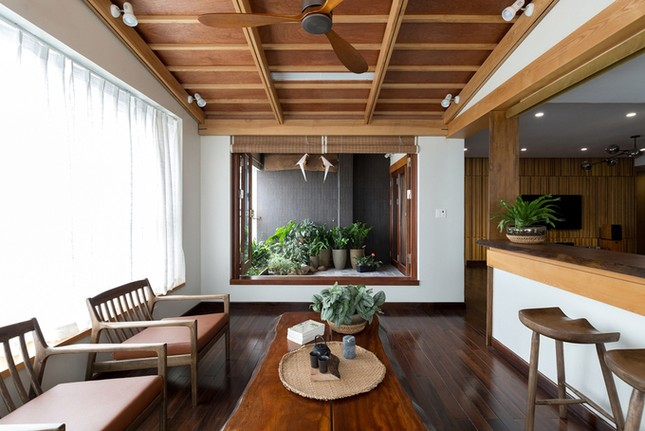 Căn chung cư tầng 26 ở Hà Nội giống... nhà vườn kiểu Nhật ảnh 2