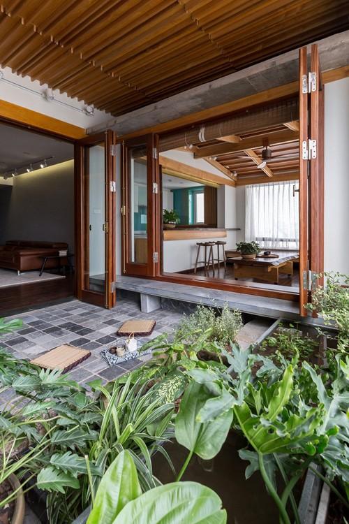 Căn chung cư tầng 26 ở Hà Nội giống... nhà vườn kiểu Nhật ảnh 4