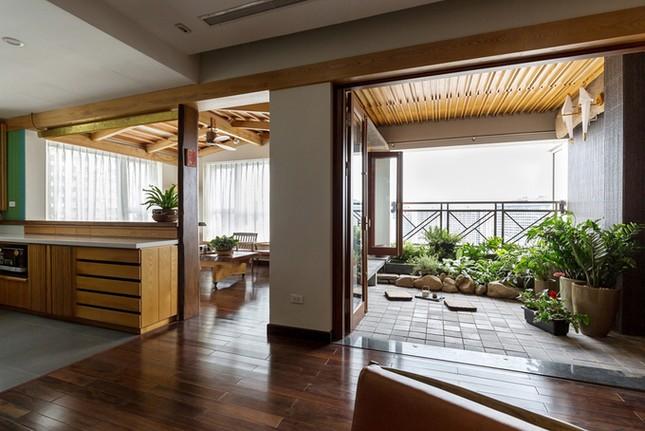 Căn chung cư tầng 26 ở Hà Nội giống... nhà vườn kiểu Nhật ảnh 1