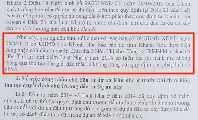 """Bộ Xây dựng """"tuýt còi"""" Khánh Hòa về dự án nhà ở hơn 30ha không đấu thầu ảnh 1"""