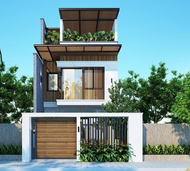 Mẫu nhà phố 3 tầng phong cách hiện đại đẹp miễn chê ảnh 1
