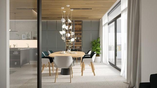 Căn hộ chung cư đẹp mỹ mãn nhờ nội thất gỗ biến tấu ảnh 4