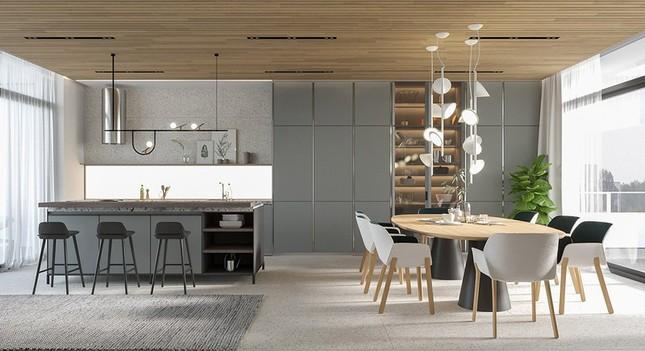 Căn hộ chung cư đẹp mỹ mãn nhờ nội thất gỗ biến tấu ảnh 5