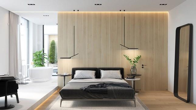 Căn hộ chung cư đẹp mỹ mãn nhờ nội thất gỗ biến tấu ảnh 6