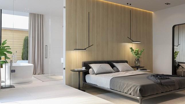 Căn hộ chung cư đẹp mỹ mãn nhờ nội thất gỗ biến tấu ảnh 7