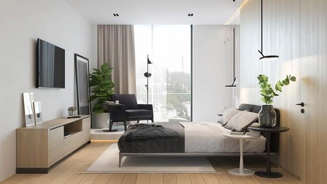 Căn hộ chung cư đẹp mỹ mãn nhờ nội thất gỗ biến tấu ảnh 8