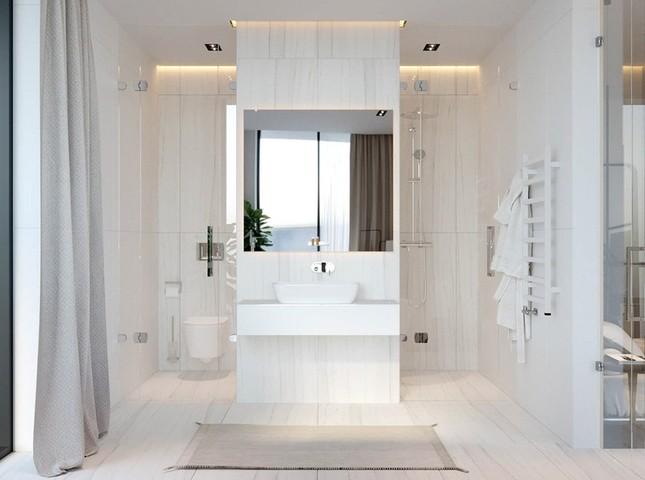 Căn hộ chung cư đẹp mỹ mãn nhờ nội thất gỗ biến tấu ảnh 9