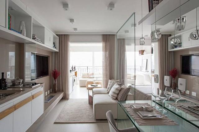 'Tuyệt chiêu' giúp căn hộ 35 m2 sang trọng như rộng gấp đôi ảnh 1