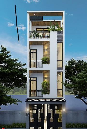 Mẫu nhà phố 4 tầng vẻ đẹp hiện đại gây sốt ảnh 1