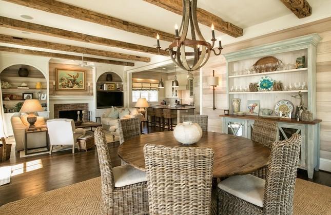 Các kiểu nội thất gỗ mộc vẫn khiến ngôi nhà đẹp nao lòng ảnh 8