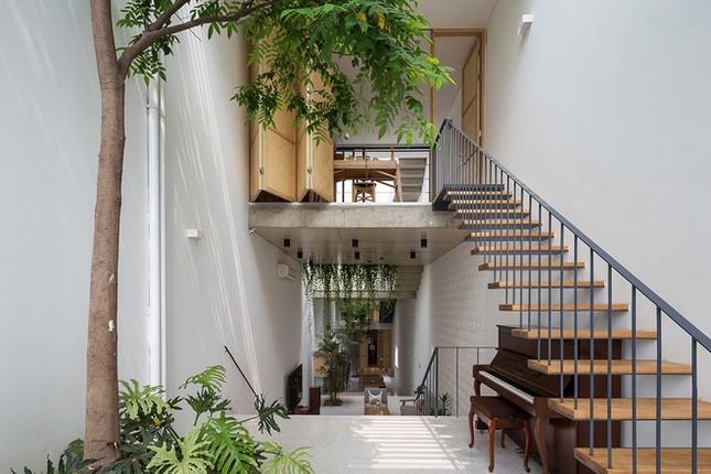 Độc đáo ngôi nhà với thiết kế 2 lớp mặt tiền chống khói bụi ở Hà Nội ảnh 5