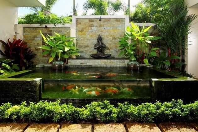 Nhà đẹp đón Tết nhờ biến 'khoảng không chết' thành hồ nước sắc màu ảnh 4