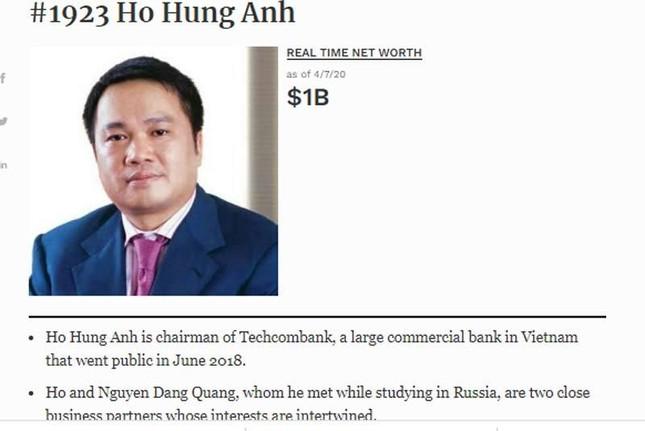 Tỷ phú Phạm Nhật Vượng lấy lại 3,7 tỷ USD, ông Hồ Hùng Anh hồi sức tỷ đô ảnh 2