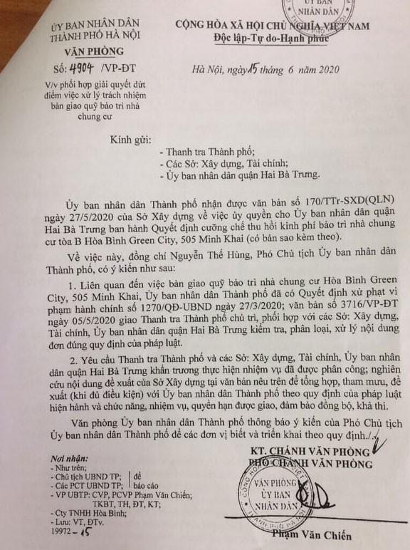 Hà Nội chỉ đạo thanh tra vào cuộc vụ chung cư 'dát vàng' om quỹ bảo trì ảnh 1