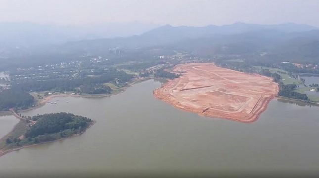 Vĩnh Phúc: Loạt doanh nghiệp san nền, đổ đất 'bức tử' hồ Đại Lải làm biệt thự ảnh 1