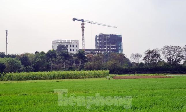 Cận cảnh công trình cao 9 tầng 'mọc' trên đất trồng cây ở Sơn Tây ảnh 1