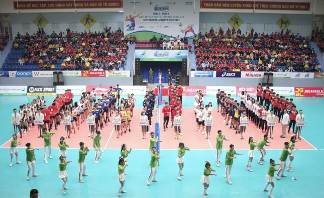 Chính thức khai mạc Giải Bóng chuyền Vô địch Quốc gia Cúp Bamboo Airways năm 2021 ảnh 1