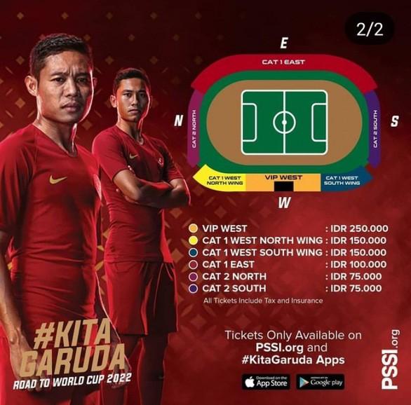 Indonesia bán vé xem Vòng loại World Cup 2022 rẻ hơn Việt Nam ảnh 1