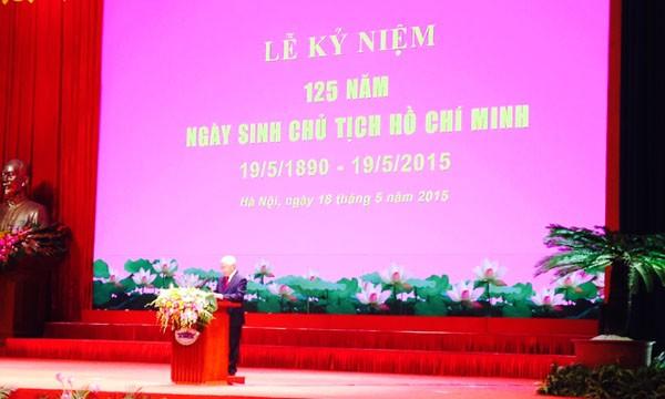 Mít tinh kỷ niệm 125 năm Ngày sinh Chủ tịch Hồ Chí Minh ảnh 1