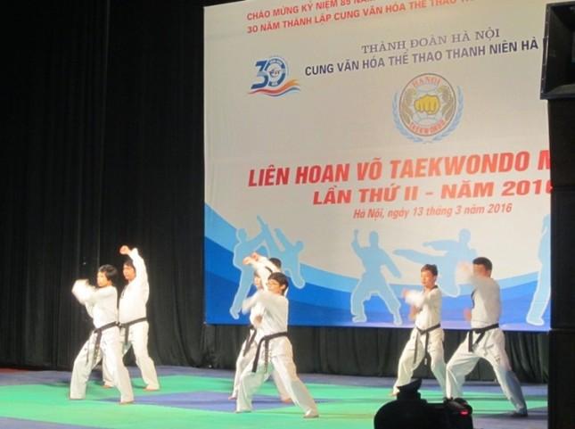 200 vận động viên tham gia liên hoan võ thuật Taekwondo ảnh 1