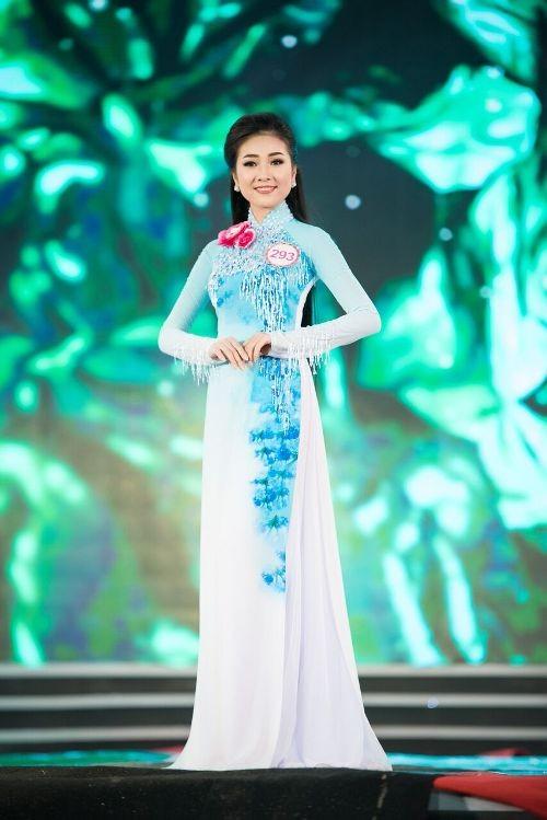 30 thí sinh hoa hậu khoe nét nền nã trong tà áo dài ảnh 6