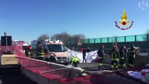 Cầu vượt cao tốc gãy ngang, 2 vợ chồng bị đè chết ảnh 2