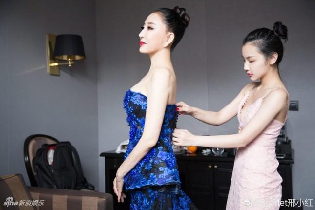 Hoa hậu Quý bà Trung Quốc khoe ngực khủng, 'vồ ếch' ở thảm đỏ Cannes ảnh 11