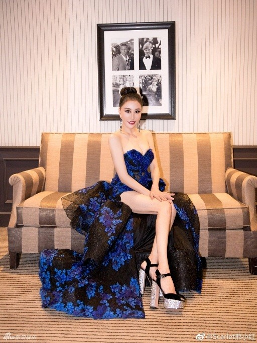 Hoa hậu Quý bà Trung Quốc khoe ngực khủng, 'vồ ếch' ở thảm đỏ Cannes ảnh 5