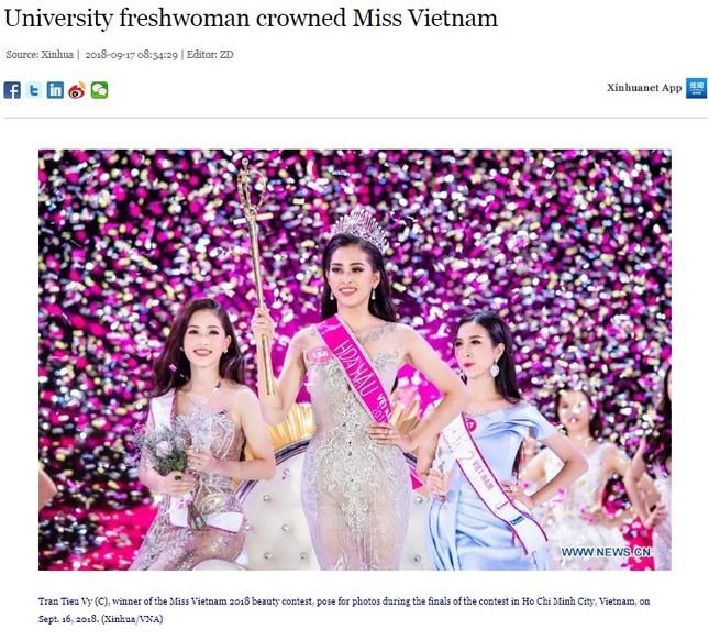 Báo chí nước ngoài hết lời khen nhan sắc tân Hoa hậu Việt Nam ảnh 1