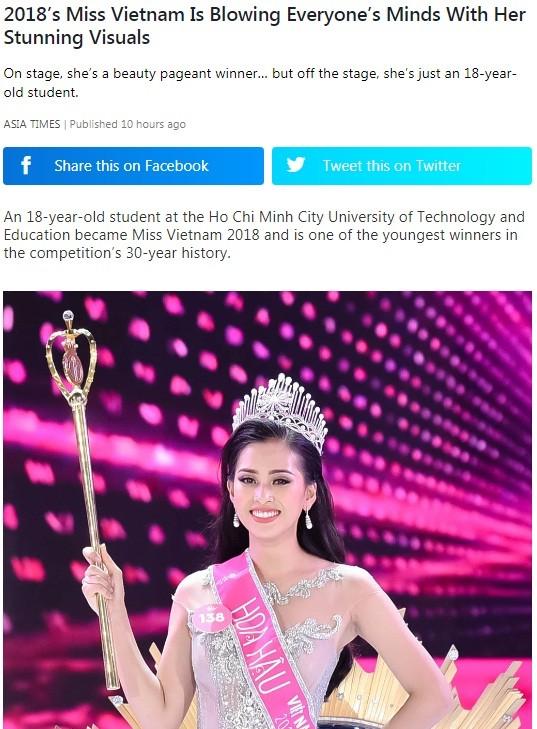 Báo chí nước ngoài hết lời khen nhan sắc tân Hoa hậu Việt Nam ảnh 5