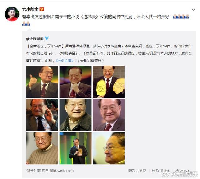 Sao Hoa Ngữ bàng hoàng, tiếc thương trước sự ra đi của Kim Dung ảnh 10