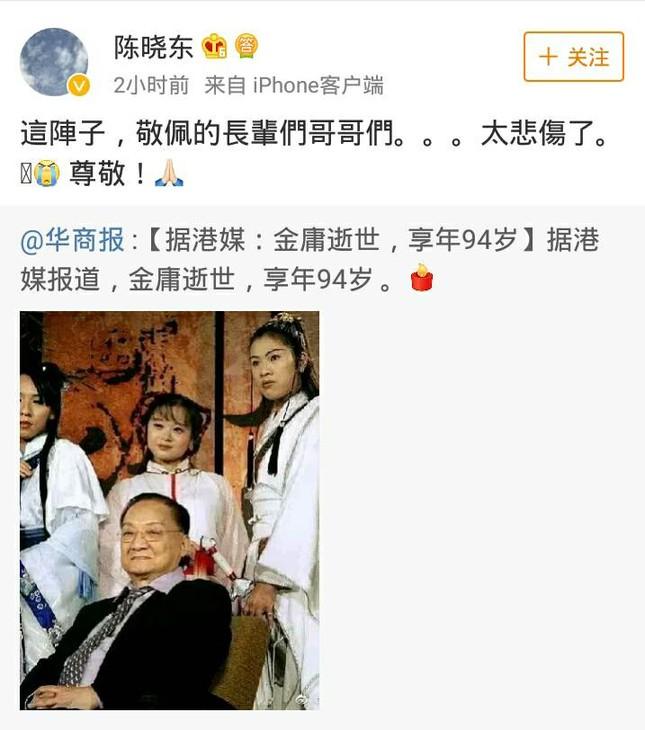 Sao Hoa Ngữ bàng hoàng, tiếc thương trước sự ra đi của Kim Dung ảnh 12