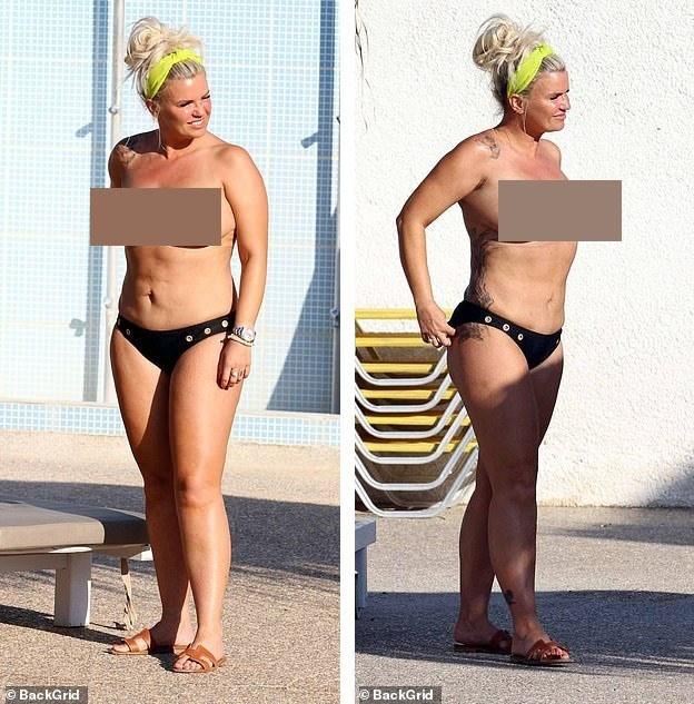 Mỹ nhân Anh một thời gây sốc khi phơi bày cơ thể ngấn mỡ, ngực trần tắm nắng ảnh 2